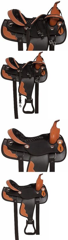Saddles 47291: New Gaited 18 Black Western Pleasure Trail Synthetic Horse Saddle Tack -> BUY IT NOW ONLY: $189.99 on eBay!