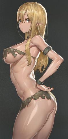 Elf Bikini (Original) by yohan1754 @ twitter.com/yohan1754 - More at https://pinterest.com/supergirlsart #oc #hot #sexy #anime #manga #girl #art #fantasy