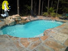 When planning the #fiberglasspool of your dreams don't forget decking! Colored, stamped, concrete, pavers and flagstone are just some of the beautiful choices to make your fiberglass pool as unique and special as the family who will enjoy it! #decking #swimmingpool #luxurypool #summer #backyard #outdoors