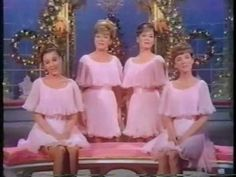 """The Lennon Sisters performing """"The Christmas Waltz"""" and """"The Christmas Song (Chesnuts Roasting on an Open Fire)"""" in 1968"""