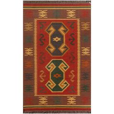 ABC Accents Flat weave Firebrick Rug