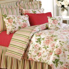 Pink Brianna Duvet Coverlet White