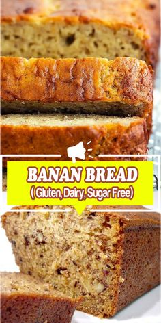cooking banana gluten bread dairy sugar free best easy Banana Bread Gluten Dairy Sugar Free Best easy cooking Best easy cookingYou can find Gluten free banana bread and more on our website Gluten Free Sweets, Gluten Free Cooking, Dairy Free Recipes, Easy Cooking, Gluten Free Dairy Free Bread Recipe, Dairy Gluten Free Dessert, Gluten Free Deserts Easy, Dairy Free Foods, Gluten Free Dairy Free Desserts