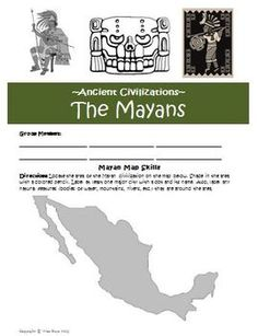 Mayan Civilization Unit Lesson Plans and Answer Keys! $
