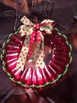 A wreath I made from Target pharmacy prescription medicine bottles...