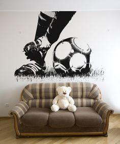 Idea for Jack's room Vinyl Wall Decal Sticker Soccer Feet Boys Soccer Bedroom, Football Bedroom, Soccer Room, Girl Room, Kids Bedroom, Soccer Decor, Art Wall Kids, Wall Art, Wall Decal Sticker