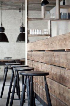 these SHELVES Norm architects | HÖST | Scandinavian Restaurant by Simon Viau, via Behance