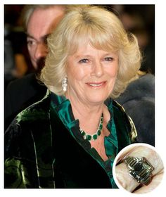 Camilla Parker Bowles emerald-cut diamond engagement ring from Charles, Prince of Wales