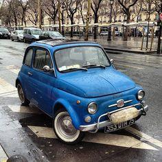Blue Car - photo by David Lebovitz