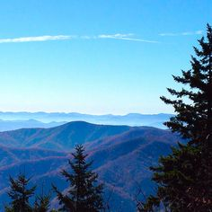 Blue autumn sky in Great Smoky Mountains National Park