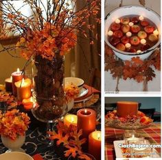 Autumn scenery on the table