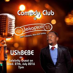 I am ready to turn up with @ushbebecomedian today! Get ready  A surprise Musical act would also be revealed later in the day. Cc @jekaplaynaija  #Steevane #SV