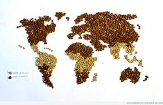 Map of where #coffee