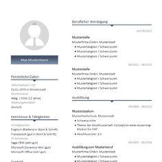 modernes lebenslauf muster mit blauen farbakzenten modern cv resume template - Lebenslauf Vorlage Pdf