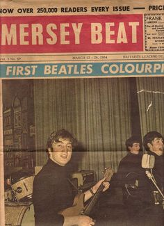 The Beatles on an edition of Mersey beat, March 1964