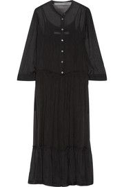 Silk-chiffon midi dress