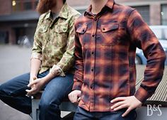Great combo by 3sixteen! The Crosscut Flannelshirt the Fatigue Camo Overshirt