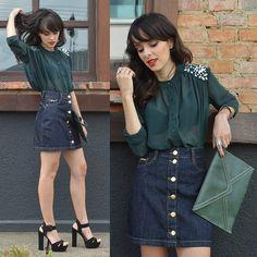 Inspiração para o final de semana: Look do Blog Ela Inspira com saia Gdoky Jeans! <3 #Aposte #Noite #Casualchic