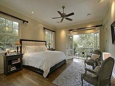 Master bedroom with french doors to patio. | Mstr BRs, Guest Rms ...