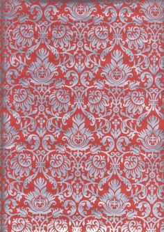 Red-Silver # 94 Wrapping Paper - 19 sheets