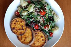 All-Star Adzuki Bean and Quinoa Kale Salad with the best Roasted Sweet Potatoes