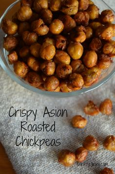 This delicious Crispy Asian Roasted Chickpeas Recipe makes a healthy snack packed with fiber and flavor.