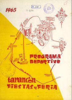 Programa de las competiciones deportivas de las fiestas de Tarancón (Cuenca) 7 al 13 de septiembre de 1965 Boxeo, Ciclismo y Ciclo-Cros #Fiestaspopulares #Tarancon #Cuenca