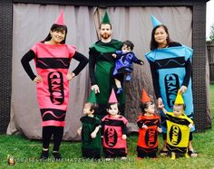 Crayon Costumes for Quintuplets - All Homemade  sc 1 st  Pinterest & DIY Group Halloween Costume. Crayola crayons. (IG: iyaricorazon19 ...