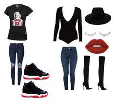"""Jordan's vs Heels"" by cmyrick93 on Polyvore featuring Alice + Olivia, J Brand, Zara, rag & bone, Lime Crime and NARS Cosmetics"