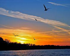 November Sunset ~ Lake Erie