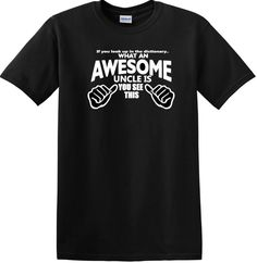 Awesome Uncle Shirt, Uncle Shirt, New Uncle Shirt, Father's Day Shirt, Shirt for Uncle by AweBeeDesigns on Etsy