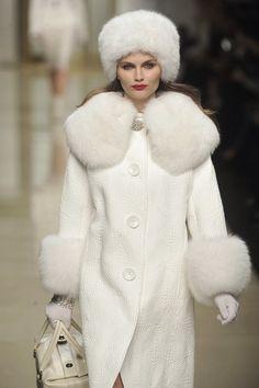 white coat with white fur
