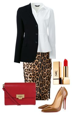 """Без названия #86"" by solostylist on Polyvore featuring мода, Altuzarra, Lands' End, Christian Louboutin, Lodis, Yves Saint Laurent и Alberto Biani"