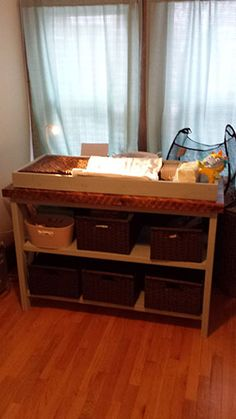 Rustic X DIY Changing Table Plans | rogueengineer.com #DIYplayroom #babyandchildDIYplans