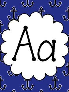 Nautical Alphabet Posters