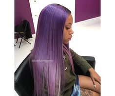 "Find and save images from the ""Colored Hair🌈"" collection by Auty (Franieeeee_) on We Heart It, your everyday app to get lost in what you love. Weave Hairstyles, Cool Hairstyles, Hairstyle Ideas, Hair Ideas, Woman Hairstyles, Protective Hairstyles, Girl With Purple Hair, Beautiful Hair Color, Natural Hair Styles"