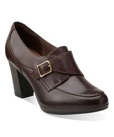 Loving this Brown Brynn Poppy Leather Pump on #zulily! #zulilyfinds