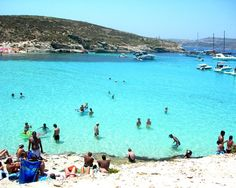 The blue lagune, Malta. I dived at the left - with no people around!