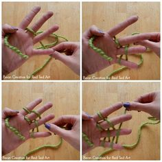 how to make a finger knit hat