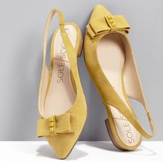 Cheery yellow flats to brighten your day!