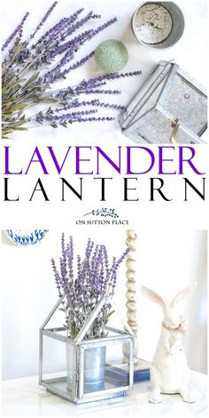 Easy lavender lanter