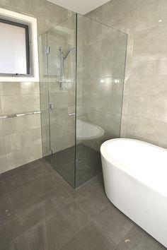 Custom Glass & Shower Screens offer customers a wide range of shower . We make selecting your new shower screen a breeze. Washroom Design, Bathroom Design Layout, Bathroom Design Small, Bathroom Interior Design, Bathroom Plans, Bathroom Renovations, Shower Doors, Shower Screens, Minimalist Bathroom Design