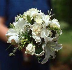 Gardenia & Lily fragrant wedding bouquet by Beikmann Associates by Beikmann Associates Floral Design, via Flickr