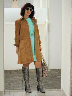 Tany et La Mode: Wearing the Brigitte dress (self-made dress and coat) - O vestido Brigitte (casaco e vestido feitos por mim)