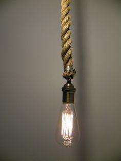 Rope Pendant Light Modern Industrial Chandelier by HangoutLighting, $60.00