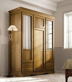 Armarios clásicos de 3 puertas en color cerezo, miel, nogal, blanco y en colores vivos, visita nuestra web: http://rusticocolonial.es/mueble-clasico/muebles-de-dormitorio-clasicos/armarios-cl%C3%A1sicos