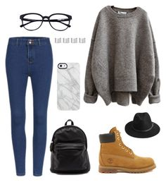 """Untitled #7"" by iaml22 on Polyvore featuring Timberland, Maison Margiela, Uncommon, BeckSöndergaard, women's clothing, women's fashion, women, female, woman and misses"