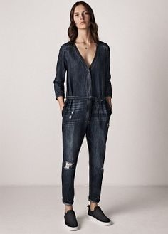 fc39c124ba6 DUNGAREES VS JUMPSUITS  WHICH ONE IS FOR YOU. Denim DungareesDenim  JumpsuitDenim JeansBlue JeansJumpsuit MangoDenim ...