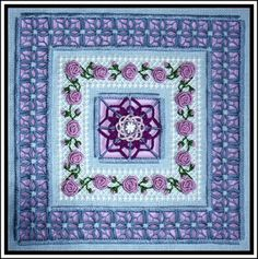 Who wouldn't love a design that bears your name! Not only is Rosa lovely, she is also full of intricate stitchwork for advanced stitchers. LOL Not me, but Thank God for friends! Love ya Jules, and you too Vicki! Find the lovely Rosa at India Grace designs.