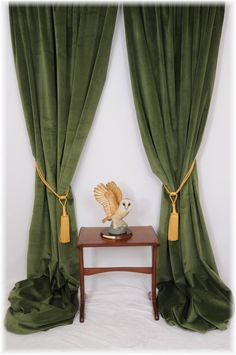 Details About Superb Forest/Spruce Green Velvet Curtains ~ Bespoke Service    All Sizes MTM ~